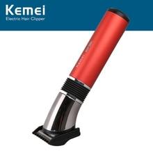Kemei الكهربائية مقص الشعر الشعر المتقلب قابل للغسل قابلة للشحن مقص الشعر اللحية ماكينة حلاقة الحلاقة للرجل المهنية أدوات الحلاق