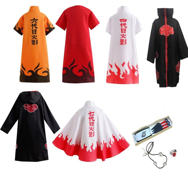 Hot Sale Anime Akatsuki /Uchiha Itachi Konoha Ninja Cosplay Halloween Christmas Party Costume Cloak Cape
