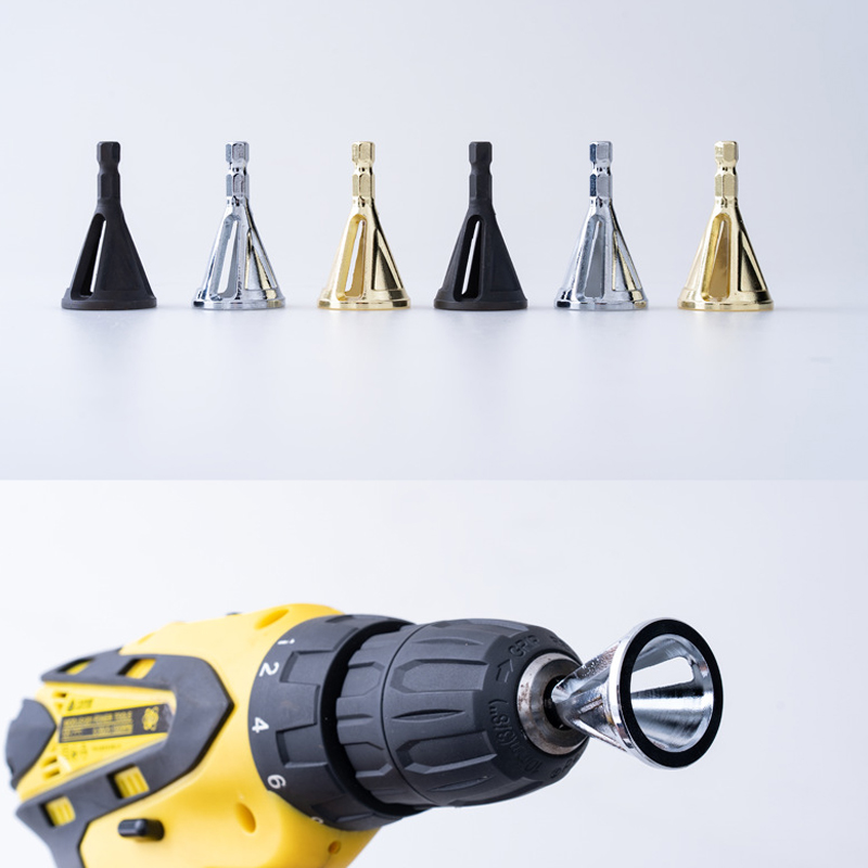 1Pcs Stainless Steel Deburring Hexagon/Triangle Shank External Chamfer Tool High Strength Hardness Drill Bit Remove Burr