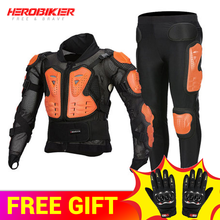 HEROBIKER Motorcycle Jacket Motocross Riding Motorbike Protection Armor Equipment Racing Body Armor Moto Ptotective Gears Combin