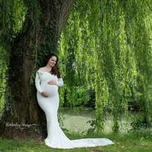 Maternity gown Cotton Maternity Dress maternity photography props Fancy shooting photo baby shower pregnant dress недорого