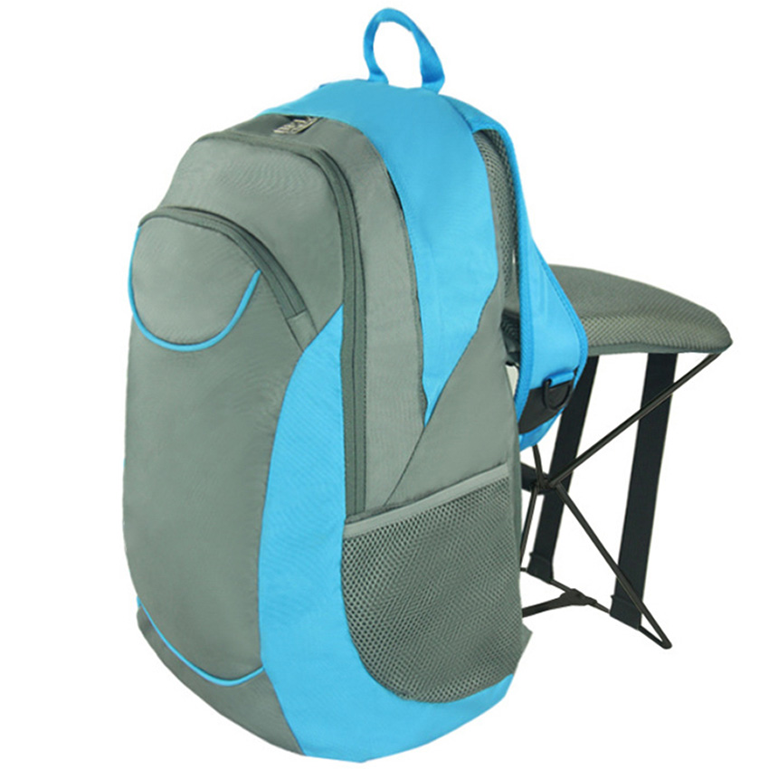 C1313 47L MultifunctionalFolding Stool Backpack Outdoor Sports Backpack Wear-Resistant Mountaineering Rucksack With Stool