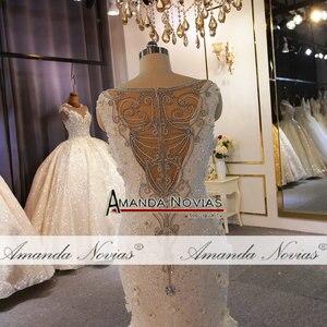 Image 4 - מיוחד עיצוב שמלות כלה מלא ואגלי תחרה חתונה שמלת בת ים