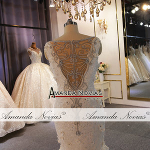Image 4 - Special design wedding gowns full beading lace wedding dress mermaid
