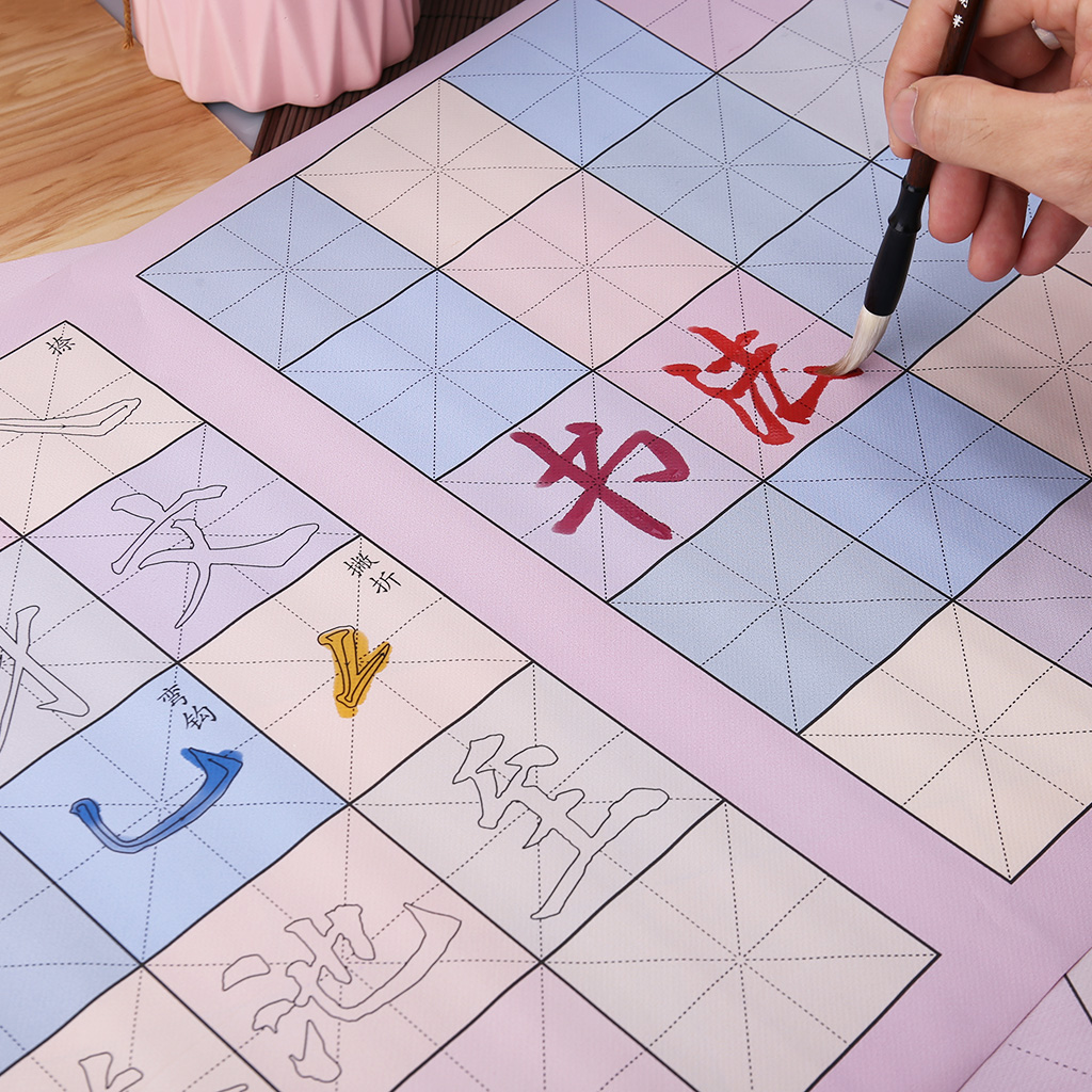 Reusable Magic Water Writing Cloth Painting Brush Drawing Chinese Calligraphy Practice Scroll For Children Early Education