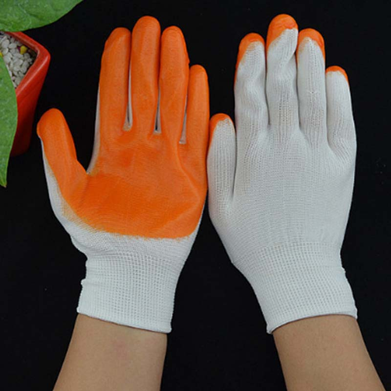 Gum Glove Anti-static Coating Refers To Dipped Non-slip Gloves Wear-resistant Nylon Gloves