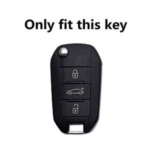 Image 2 - حافظة مفاتيح السيارة مع 3 أزرار لبيجو 107 ، 308sw 407 ، 208 ، 508 ، 408 ، 2018 ، سيتروين C4 ، كاكتوس ، C5 ، C4L ، الملحقات