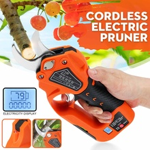 Shears Cutter Pruning-Tools Lithium-Battery Electric Cordless with 4x18650mah 100000-Times