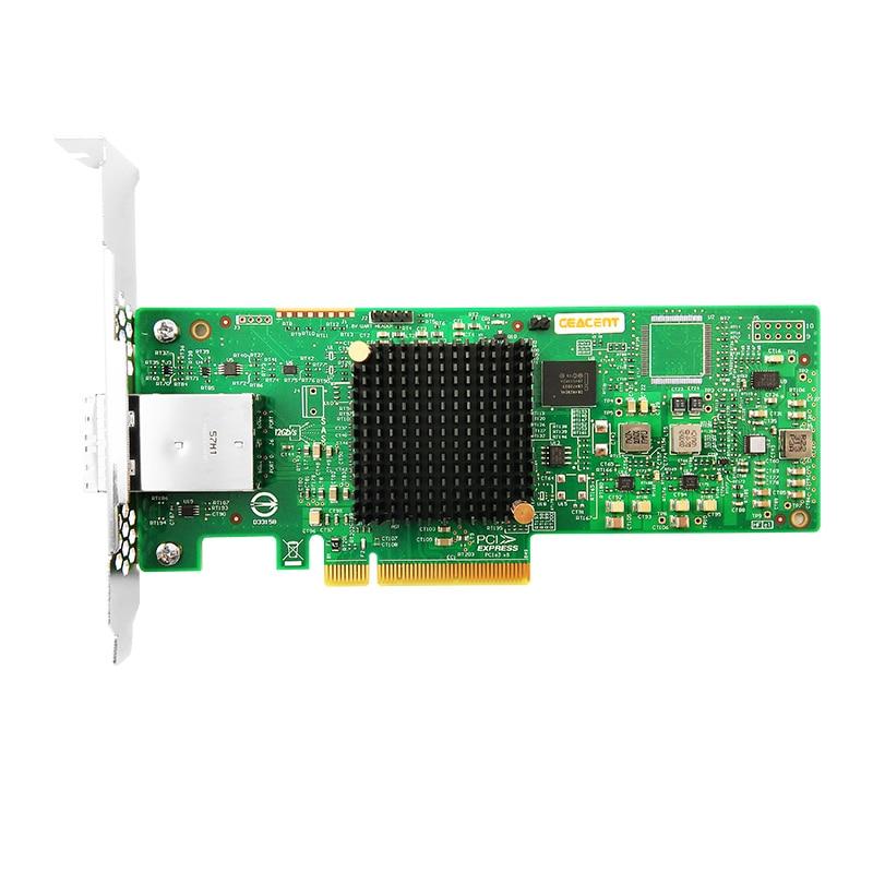 Ceacent AS3008W 9300-8E 12 gb/sn SAS/SATA kontrol kartı PCIe3.0 X8 yonga seti LSI 3008 8 bağlantı noktası 2*8644 HD Mini SAS