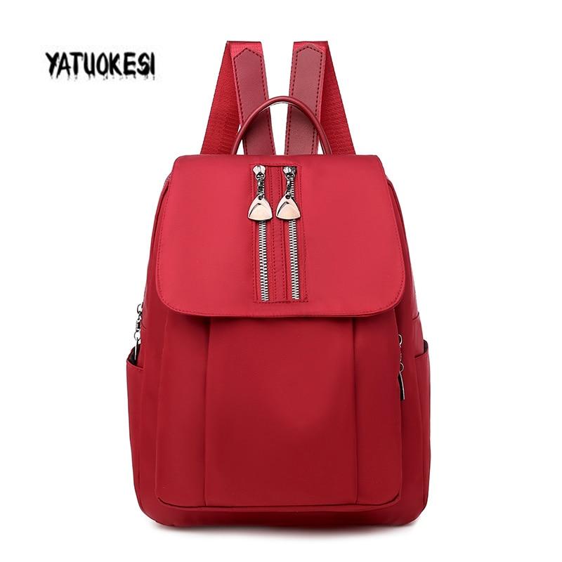 YATUOKESI Anti-theft Backpack Female 2020 New Korean Wild Large Capacity Travel Bag Multifunctional Student School Bag Softback