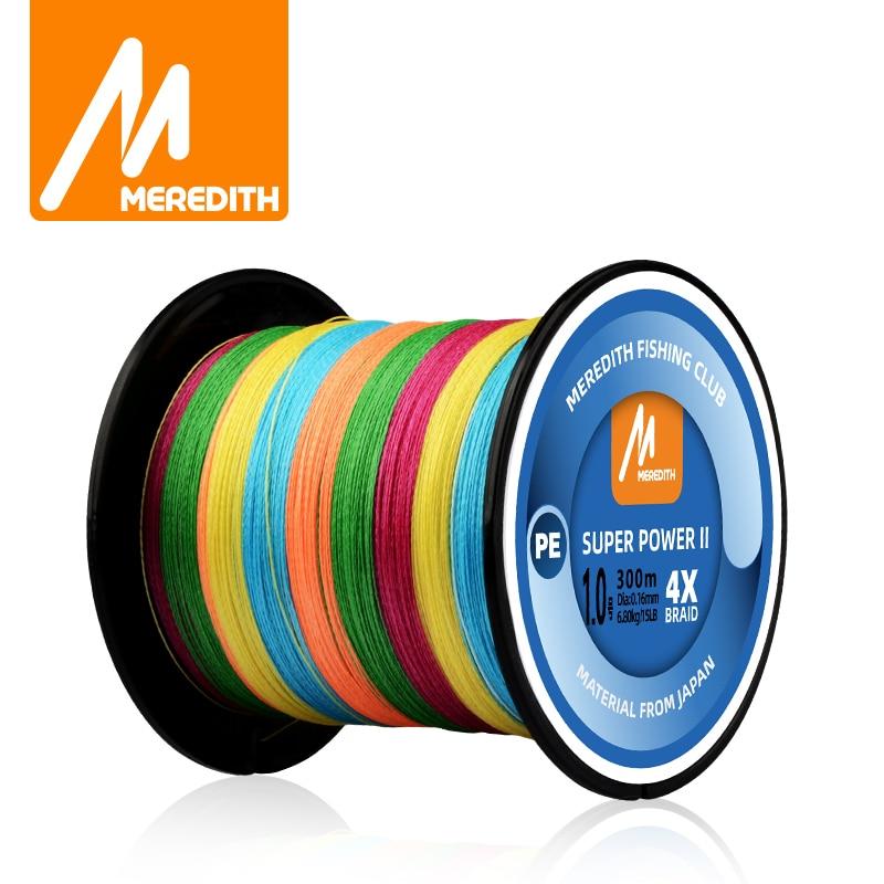 MEREDITH 4 tel örgülü PE olta 15-80LB 300M 500M 1000M çok renkli örgülü hattı Multifilament PE olta
