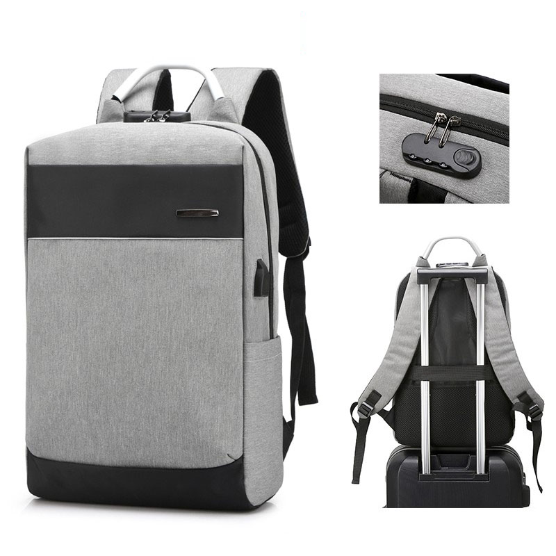 Business Men Backpack Anti Theft Laptop Travel Bag USB Charging Student School Bag Bookbag Bagpack Backbag Rucksack Knapsack