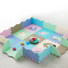 Baby Puzzle Play Mat For Kids EVA Foam Jigsaw Floor Cushion with Fence Thick Carpet Children Educational Toys Activity Sport Pad
