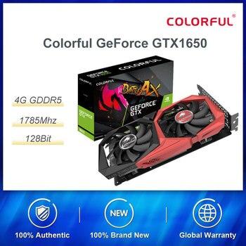 Colorido GeForce GTX1650 4G 128 Bit gráficos discretos Turing escritorio juego de ordenador GTA5/CSGO GDDR5 arquitectura de alto rendimiento