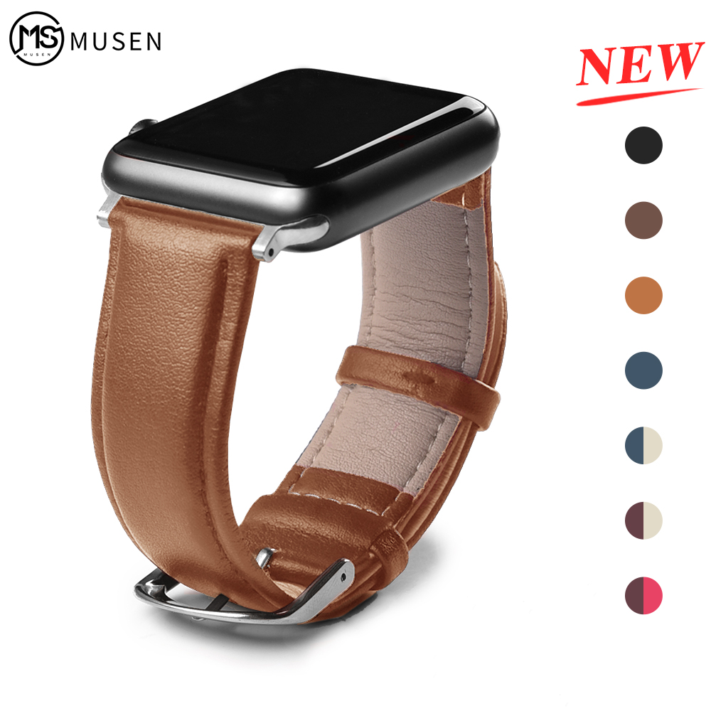 Strap For Apple Watch Band Leather Loop 42mm 38mm Watchband Correa Apple Iwatch 44mm 40mm 5 4 3 2 1 Bracelet Accessories