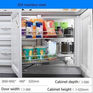 Image 3 - Armario De Cestas Para Colgar En La Cocina Ducha Despensa Gabinete Organizador Armário de Cozinha Rack de Cozinha de Aço Inoxidável Cesta