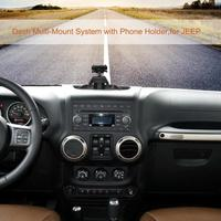 Car Adjustable Size Dash Multi Mount System with Phone Holder for Jeep Wrangler JK 2011 2018 Car Accessories|GPS Stand| |  -