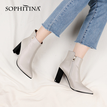 Heeled-Boots High-Heel SOPHITINA Women Shoes Pointed-Toe Comfort Winter Genuine-Leather
