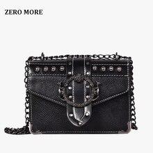 European Fashion Female Square Bag 2018 New Quality PU Leather Womens Designer Handbag Rivet Lock Chain Shoulder Messenger bags