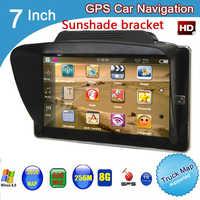 Navegador GPS con parasol para coche, 7 pulgadas, TFT, LCD, HD, 800x480, con bluetooth AVIN DDR3, 256M, 8GB, windows CE 6,0