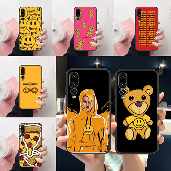 Drew Justin Bieber Phone case For Huawei P Mate Y3 Y9 10 20 30 40 Smart Z Pro Lite 2017 2019 black luxury cell cover 3D prime image