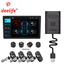 Deelife USB TPMS Android Tire Pressure Monitoring System External Internal Sensor for Car GPS Navigation Multimedia DVD Player large size screen monitors car tire pressure monitoring system car tpms usb connecting android dvd mp5