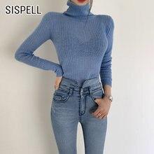 Женский прозрачный свитер sispell повседневный базовый с длинным