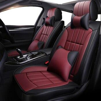 New luxury Leather car seat covers for Kia k2 k3 k7 k9 kx3 kx5 kx7 magentis mohave niro of 2018 2017 2016 2015