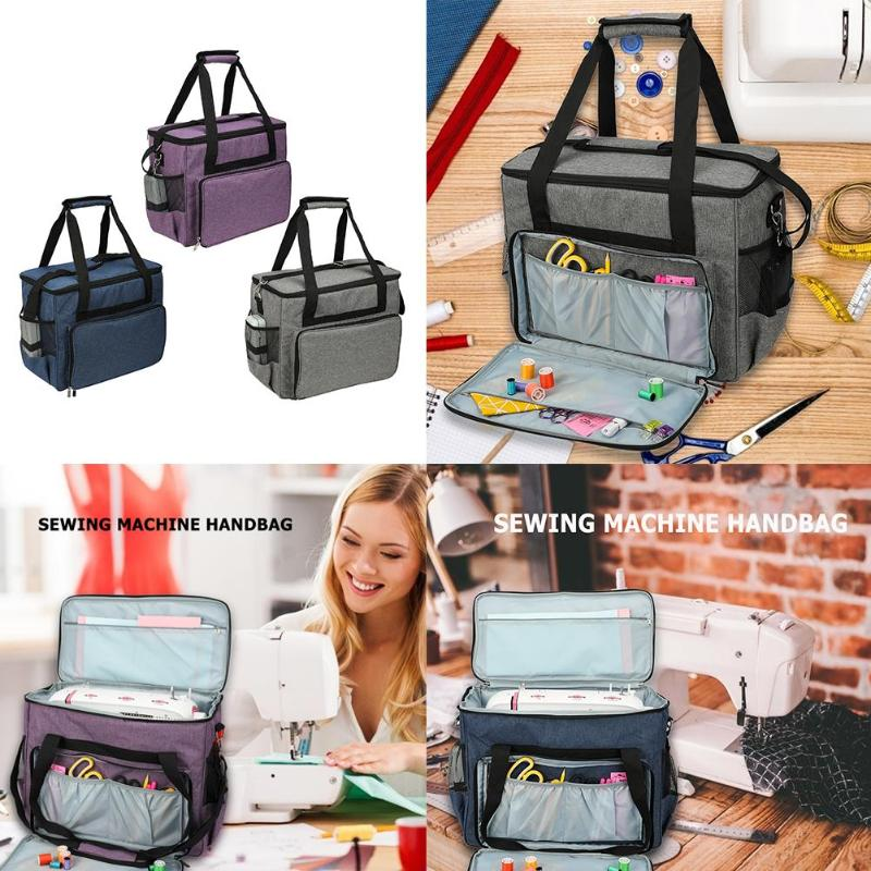 Oxford Cloth Sewing Machine Storage Bag Large Capacity Sewing Tools Handbag Sewing Tools Dust Cover Case Accessories