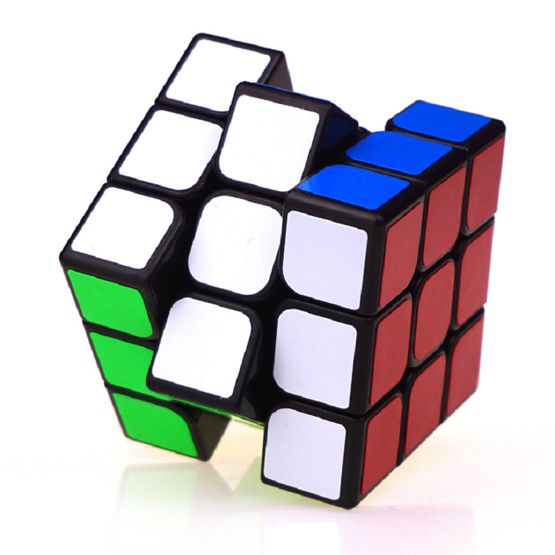 Classic Colorful 3x3x3 Three Layers Magic Cube Profissional Competition Speed Cubo Non Stickers Puzzle Magic Cube Cool Toy Boy