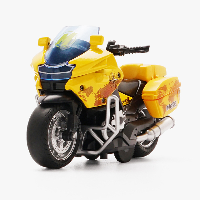 Motorcycle model Die-casting motorcycle with light and music  Toy car / Color Optional Toy gifts on Christmas Eve Ratio 1:14 2