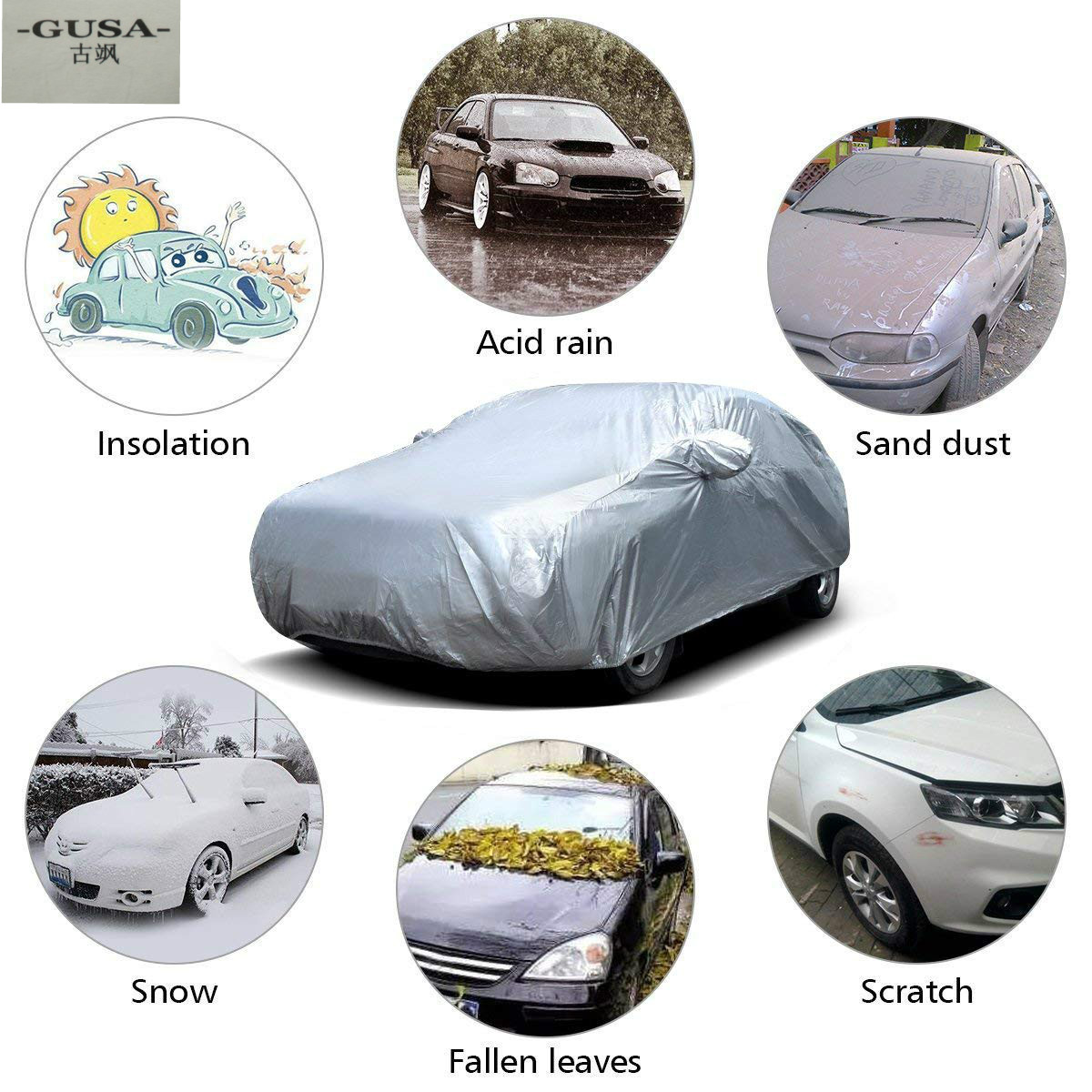 Car-Windshield-Cover Tarp Truck Universal Waterproof Anti-Uv Summer for SUV Sun-Dust title=