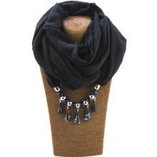Jzhifiyer dripping pendant ring shawl jewelry muslim hijab scarf viscose linen soft plain scarfs charm bead Jewelry