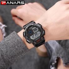 PANARS Digital Mens Led Wristwatch Waterproof Electronic Sport Watches Casual Fashion Sport Watch Men Luminous Watch цена и фото