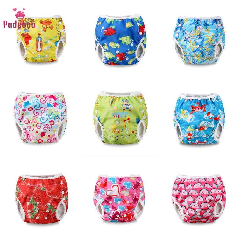 Pudcoco Adjustable Reusable Baby Summer Swim Diaper Swimming Trunks Waterproof Swimwear