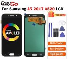 AMOLED для Samsung A5 2017 дисплей A520F стандартный ЖК-экран + сенсорный экран дигитайзер в сборе для Samsung A520 ЖК-дисплей Бесплатная доставка