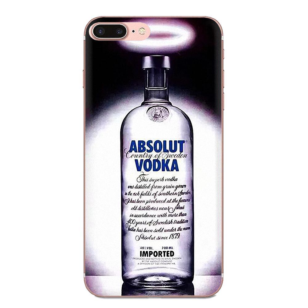 Soft Phone Cover Case Coque Absolute Vodka Bottle For Apple iPhone 4 4S 5 5C 5S SE 6 6S 7 8 11 Plus Pro X XS Max XR