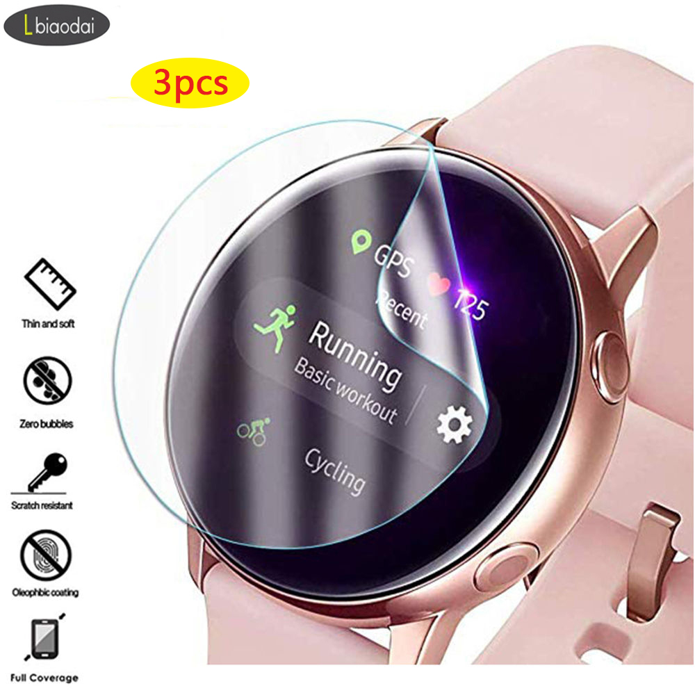 3Pc 3D Screen Protector For Samsung Galaxy Watch Active 2 44mm 40mm HD Ultra-thin Full Protective Film Watch Active2 Accessories