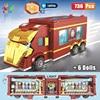 Kids Toys Marvel Iron Man Container Truck Building Blocks 6 Mache Figures Bricks Mini Doll Toys For Children Birthday Gifts