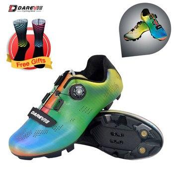 Darevie 2020 sapatos de ciclismo camaleão mtb ciclismo luz pro mountain bike sapatos spd reflexivo professionl 1