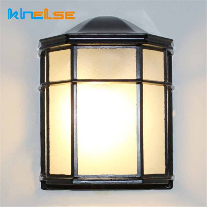 Outdoor Vintage LED Wall Lamp Waterproof 15W Retro Garden Porch Sconces Balcony Foyer Home Decor Exterior Wall Lights Luminaire
