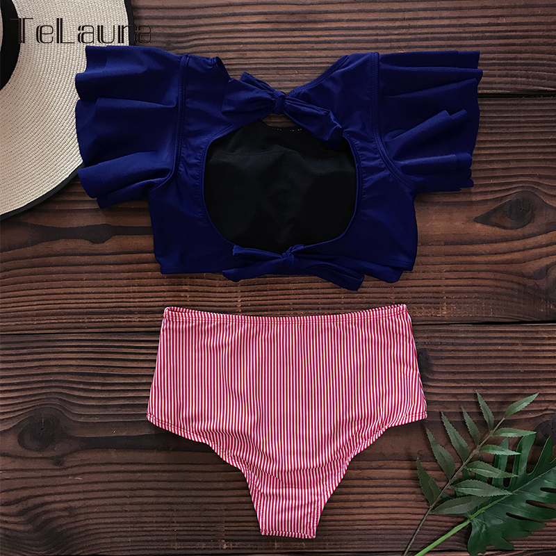 Hda9b5eb5f9754fa99c06dd90415ceee8Z Ruffle High Waist Bikini 2019 Swimwear Women Swimsuit Push Up Bikinis Women Biquini Print Swimsuit Female Beachwear Bathing Suit