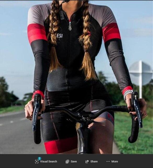 Kafitt-9D-gel feminino triathlon ciclismo camisa de uma peça saia pouco macaco manga curta conjunto bicicleta corrida 1