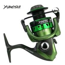 YUMOSHI GCA/BCA NEW Spinning Fishing Reel for Fresh/Salt Water Carp Casting  Baiting Metal Spool Tackle Reels