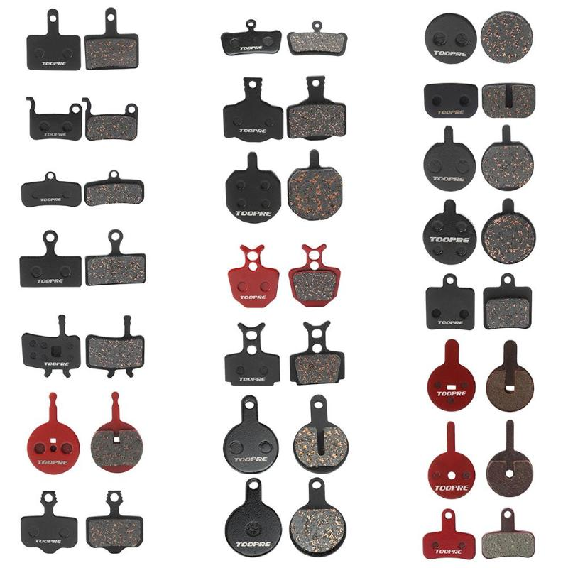 1 Pair MTB Mountain Bike Metal Disc Brake Pads Cycling Red Copper for <font><b>Shimano</b></font> M446 <font><b>355</b></font> 395 BB5 Bicycle Brake Bicycle Parts image