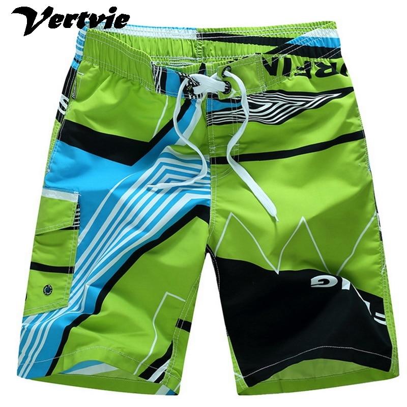 Dropship Men Beach Shorts Summer Swimming Trunks Male Swimwear Quick Dry Breathable Loose Print Elastic Casual Short Size M-6XL