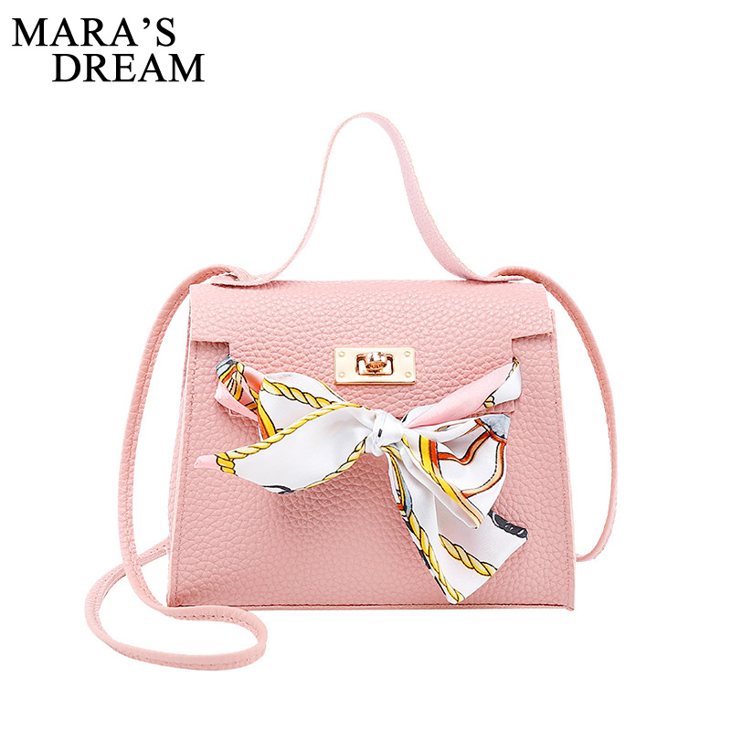 Mara's Dream 2019 New Solid Color Lychee Pattern Scarf Pouch Shoulder Diagonal Bag Handbag