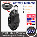 The Latest GotWay Tesla 2 Self Balance Electric Scooter 16 Inch Tire With Bluetooth Sound 2000W Motor 84V 1020WH Skateboard