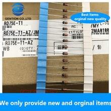 30 pces 100% original novo RD75E-T1-AZ rd75e do-35 original importado wb regulador diodo 0.5w 75v 75b 1/2w