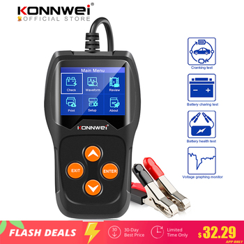KONNWEI KW600 Car Battery Tester 12V 100 to 2000CCA 12 Volts Battery tools for the Car Quick Cranking Charging Diagnostic 1